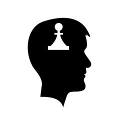 Man head with piece vector