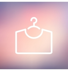 Shirt on hanger thin line icon vector