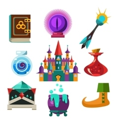 Collection of fairy tale elements vector