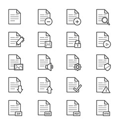 Document icons line vector