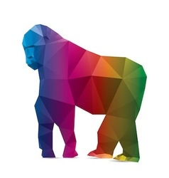 Gorilla triangle vector