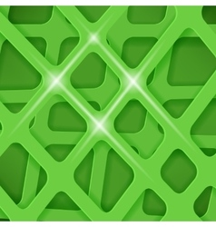 Crossed lines abstract green cover background vector