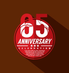 65 years anniversary celebration design vector