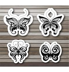 Set of butterflies EPS10 vector image