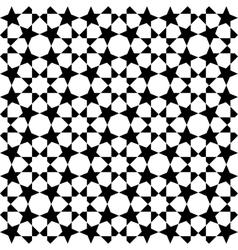 Moroccan black pattern vector