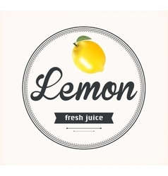 Lemon juice detailed label vector
