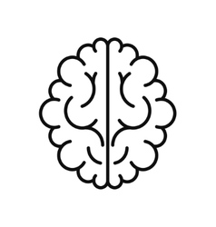 Modern brain black icon isolated on white vector
