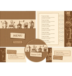 design elements for a cafe vector image