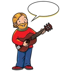 Funny musician or artist vector
