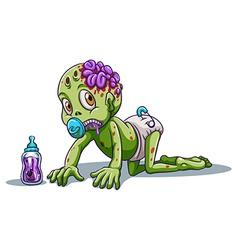 A baby zombie vector