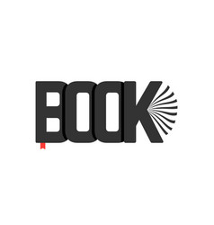Black book logo with bookmark vector