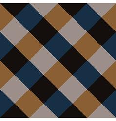 Blue brown chess board diamond background vector