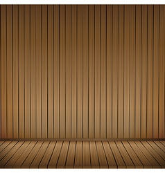 Brown wood floor texture and wood wall background vector