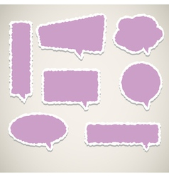 bubble speech paper vector image vector image