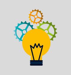 Bulb teamwork isolated icon vector