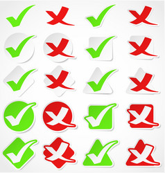Check mark stickers vector
