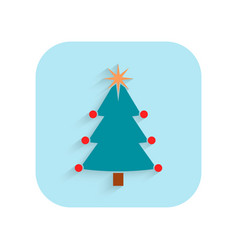 Christmas tree flat icon holiday symbol vector