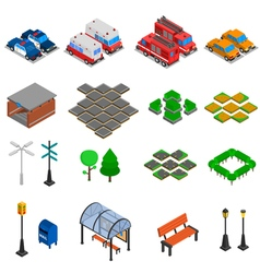 City Infrastructure Elements Set vector image