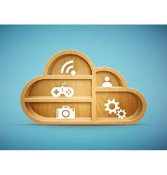cloud shelf vector image