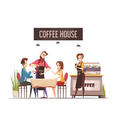 coffee house design concept vector image