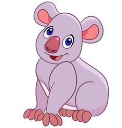 Funny cartoon koala vector