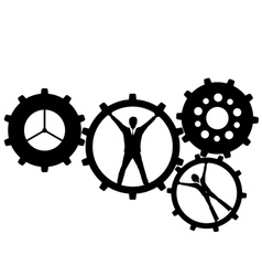 human gears vector image vector image