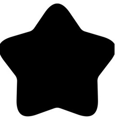 Minimalistic black rounded star icon vector