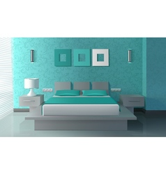 Modern bedroom interior vector