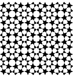 Moroccan black pattern vector