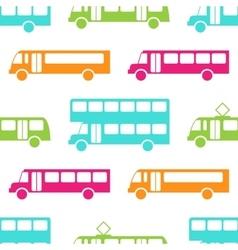Retro bus seamless pattern vector image vector image