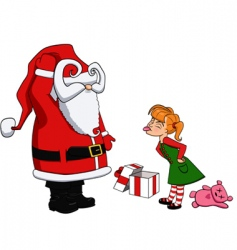 Santa and bad girl vector