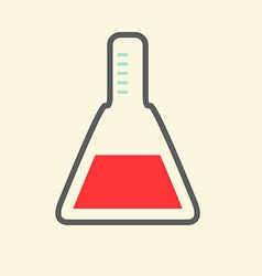 Science Symbol - Flat Design Test Tube vector image