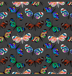 Seamless pattern with butterfly greta oto vector