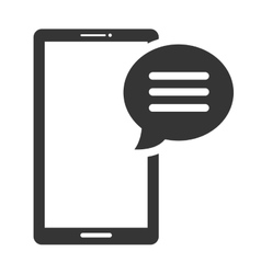 Smartphone chat isolated flat icon vector