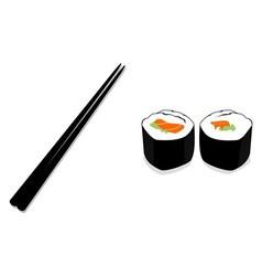 sushi chopstick vector image