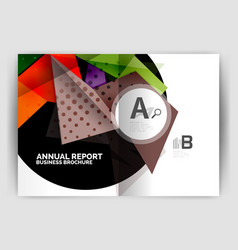 triangle business print template vector image
