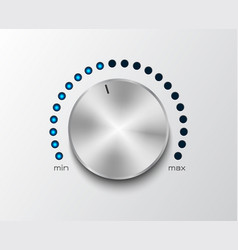 volume controler with glowing dial 2 vector image