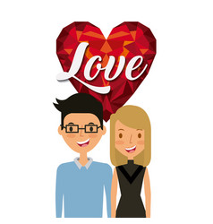 Young couple design vector