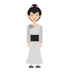 geisha japan girl isolated vector image