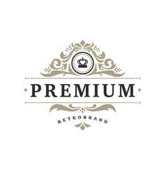 Luxury logo template object for logotype or vector