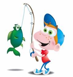 fisherboy vector image