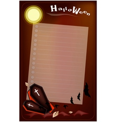 Open black coffin on halloween night background vector