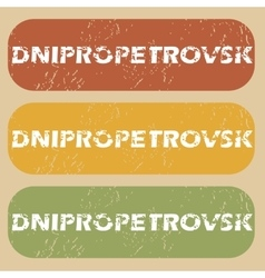 Vintage dnipropetrovsk stamp set vector