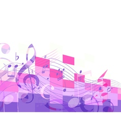 Abstract purple musical mosaic vector