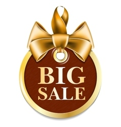 Gold tag sale vector