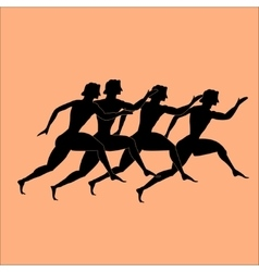 Greece runers vector