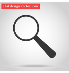 With shadow magnifying glass icon gray flat design vector
