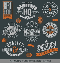 Quality and guaranteed signs vector