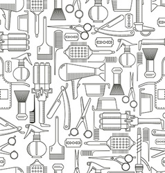 Barber tools seamless pattern vector