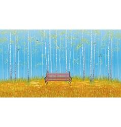 Birch grove vector image